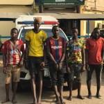 Lagos Police arrest 8 suspected Traffic Robbers in Ketu