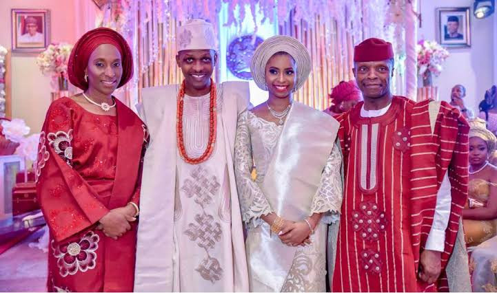 Mr and Mrs Osinbajo welcome their first grandchild