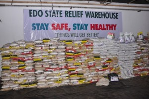 COVID-19: Edo govt begins distribution of relief materials to orphans, returnees, elderly persons, others.