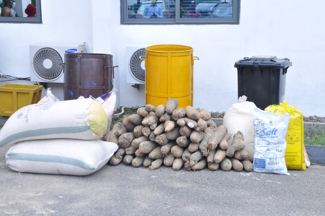 Edo Poly, secondary school donate hand sanitisers, relief items to govt
