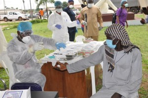 Edo screens, collects samples of over 100 persons on transit from states