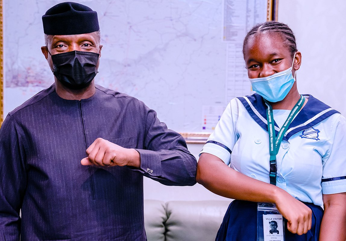 Meet the Young Girl who Beat Security To Grab VP Osinbajo