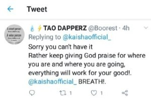 All that Glitters is not Gold, Kiasha Cries Out