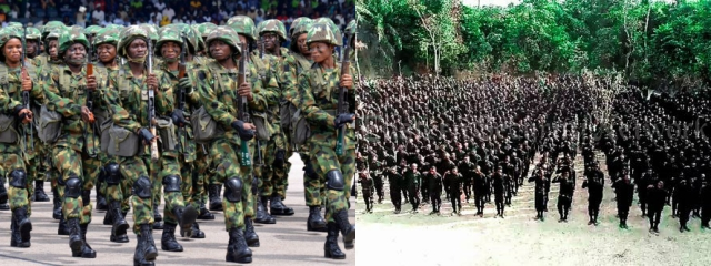 Nigerian Soldiers joining Eastern Security Network (ESN) – Report