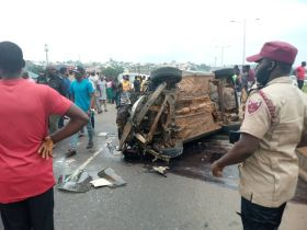 Anambra State: Traffic Crash on Kwata Flyover; One injured