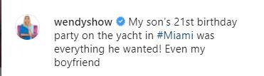 Wendy Williams Reveals New Boyfriend On Instagram