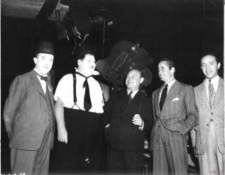 Con Stan Laurel e Oliver Hardy