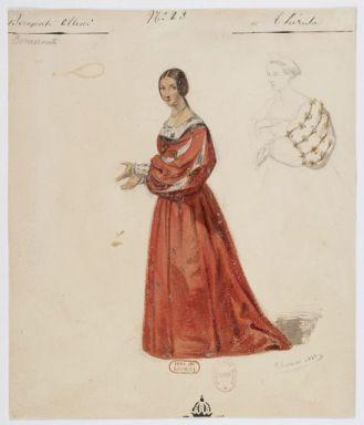 Costume di Teresa disegnato da Paul Lormier per la prima