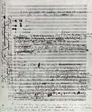Berliozs_manuscript_of_first_page_of_Symphonie_Fantastique