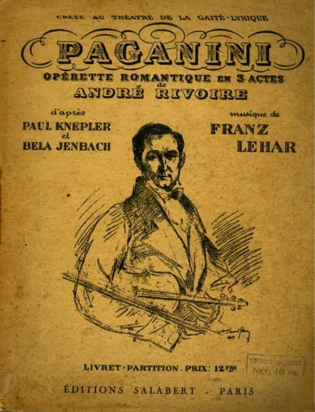 Franz Lehar 1870 1940 Paganini 1925 Gbopera