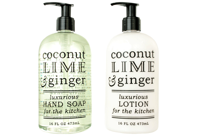 kitchen hand soap remodel ideas on a budget greenwich bay trading co collection soaps lotions coconut lime ginger lotion