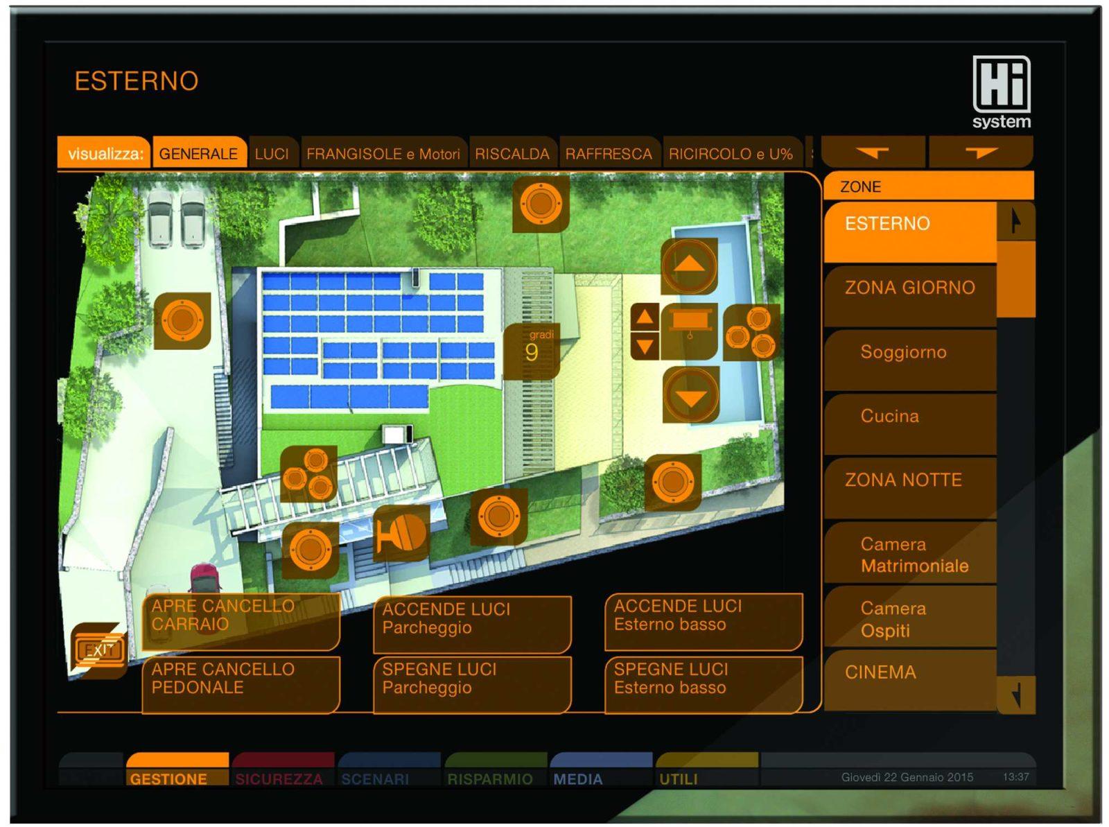 Controllo remoto di un impianto domotico  GBS