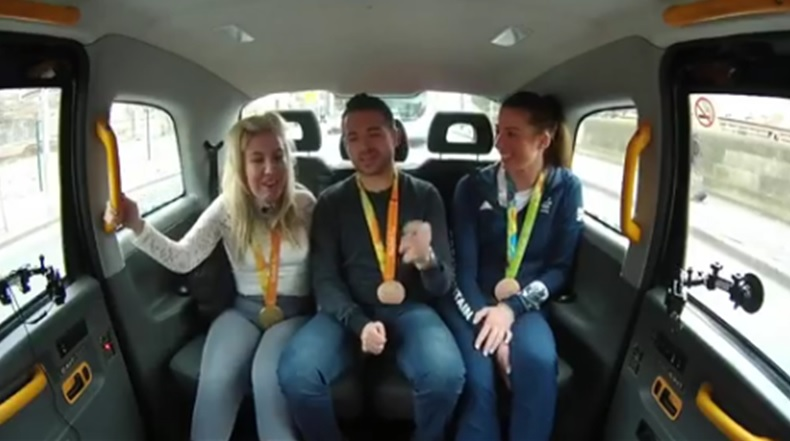 Rio medallists share success and sing in cabshare