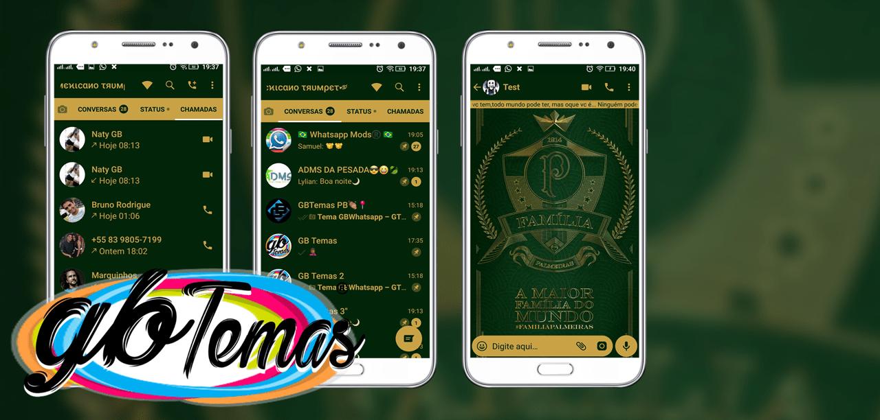 Tema GBWhatsapp - Gold Palmeiras