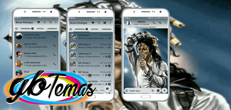 Tema GBWhatsapp - Michael Jackson