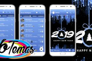 Tema GBWhatsapp - Happy New YearBlue