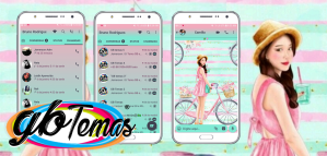 Tema GBWhatsapp - Bike And Girl
