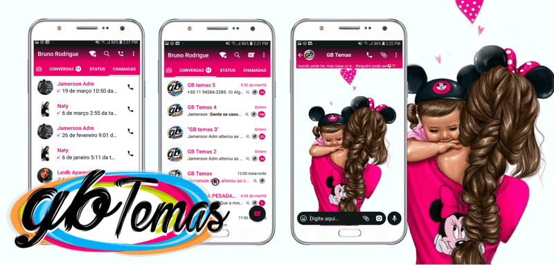 Tema GBWhatsapp - Mommy Mouse