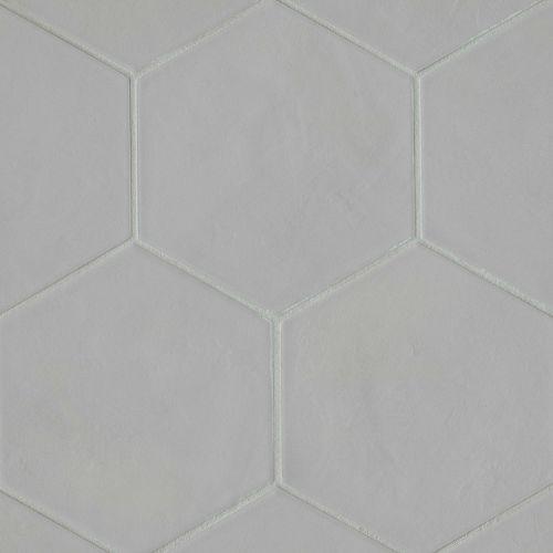 bedrosians allora solid grey matte hexagon floor wall tile