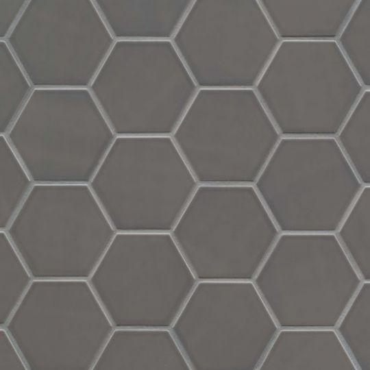 bedrosians hedron storm hexagon flat gloss wall tile