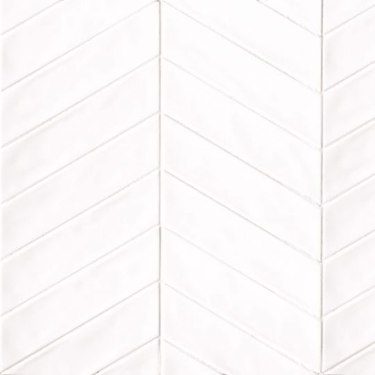 bedrosians sorrento bianco chevron 2 5 x 10 right wall tile