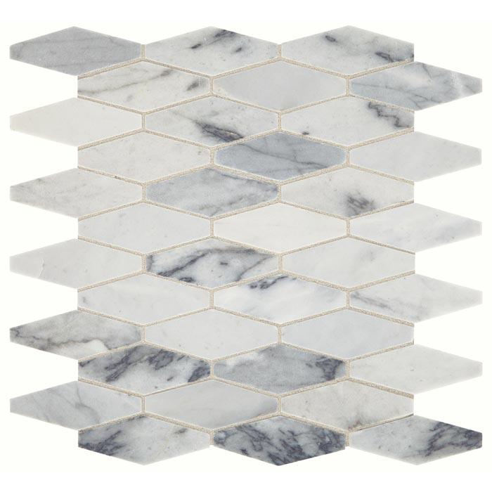 daltile sublimity elongated hex cirrus storm stone mosaic