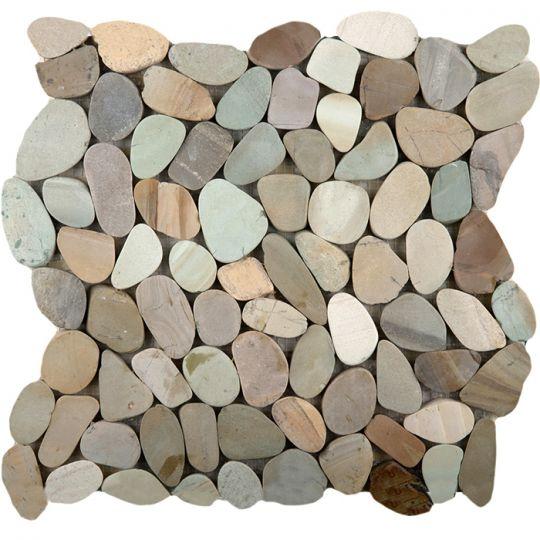 emser venetian pastel blend flat pebble mosaic