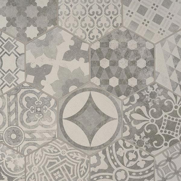 msi kenzzi mixana hexagon 7 x 8 porcelain tile