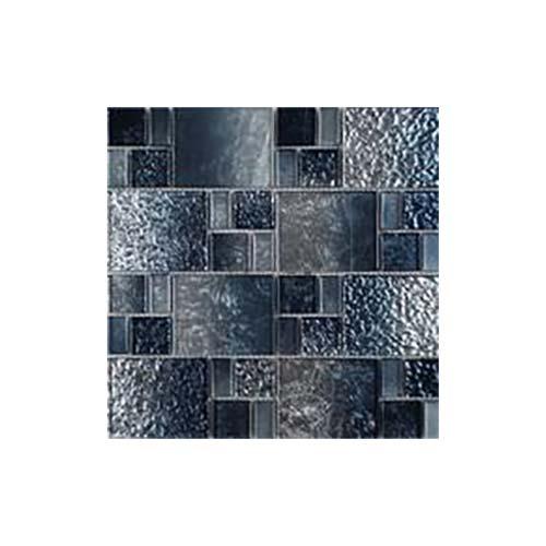 tesoro terra bella silver blue random glass mosaic