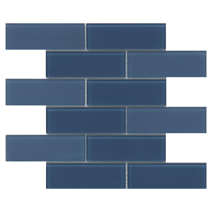 emser h20 navy 12 x 12 glass mosaic
