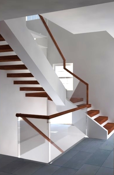 Glass Rail Systems In The Dc Area Glass Stair Railing | Glass Railing With Wood Handrail | Modern | Interior | Panel | Metal | Residential