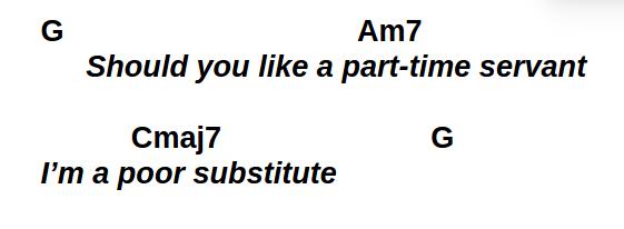 Poor Substitute verse