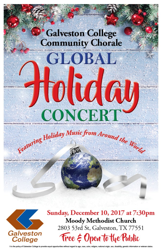 2017 GC Chorale Holiday Concert Poster
