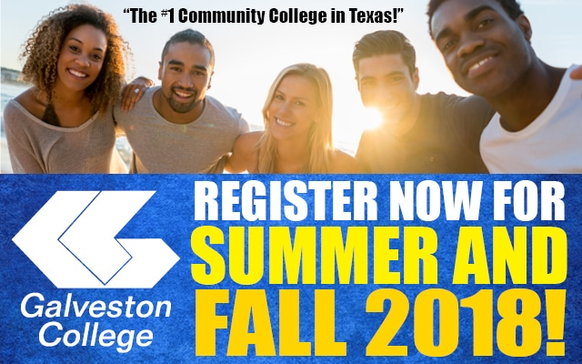 Summer and fall registration now open at Galveston College
