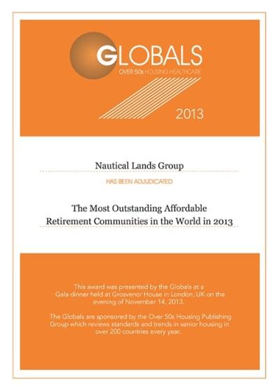 Global Awards Nautical Lands Group 2013