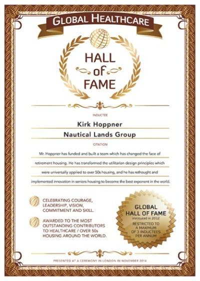 Over 50s Hall-of-Fame Kirk Hoppner