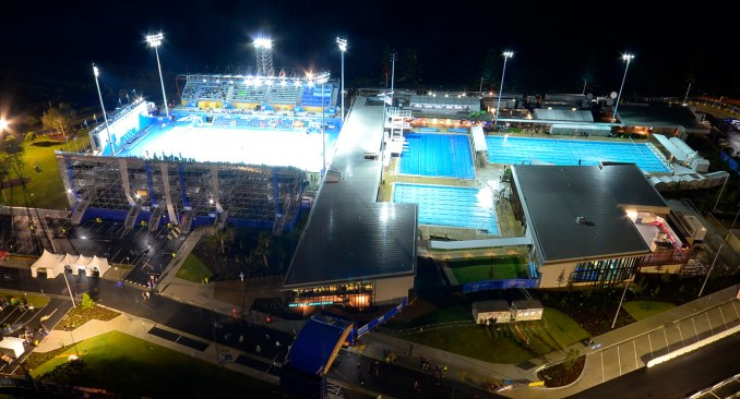 The centre under bright lights for the Pan Pacs 2014