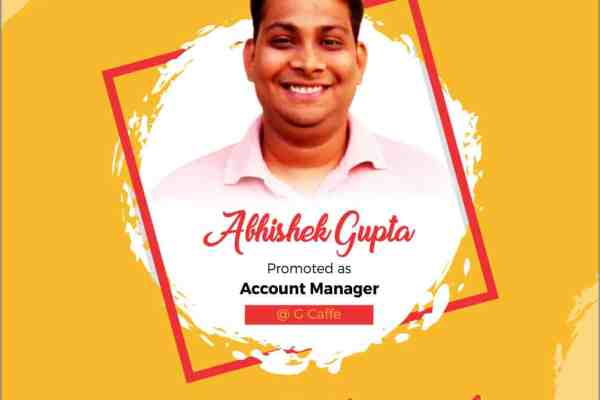 Abhishek Gupta G Caffe Account Manager
