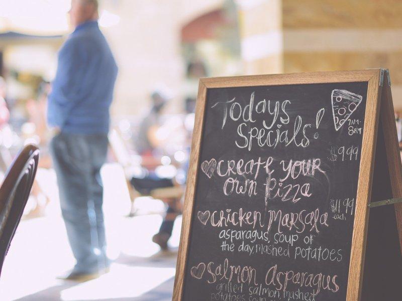 Today's specials menu