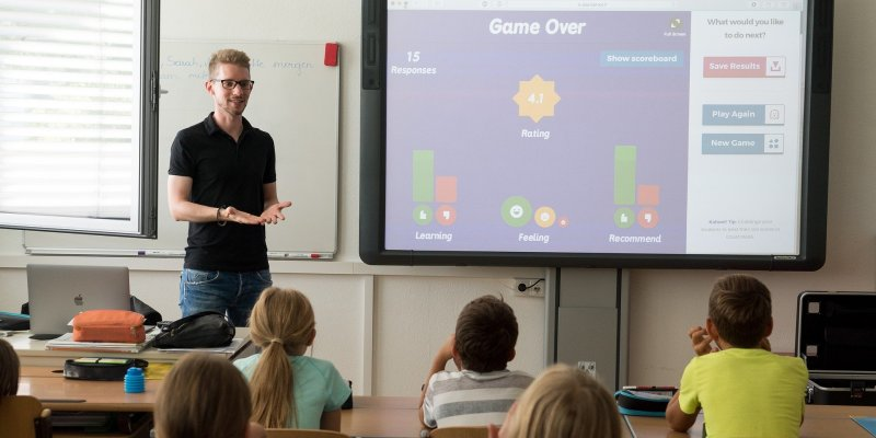 Ous District - teacher using technology