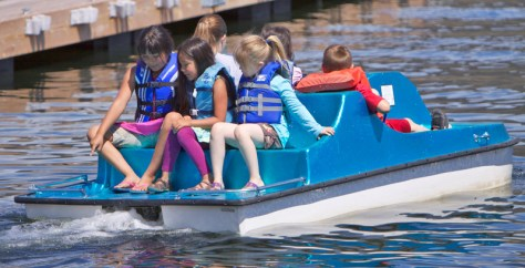 Kid-powered boat