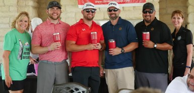 GCEFCU employees participating in Pasadena ISD's Golf Tournament