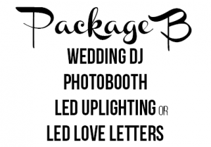 GC Events Entertainment Package B including Photo Booth