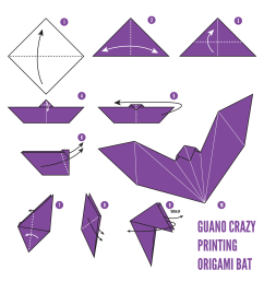 origami instructions origami bat diagram easy origami bat origami how to make a paper origami flapping [ 1748 x 1748 Pixel ]