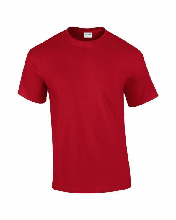 Mens T-shirt cherry red