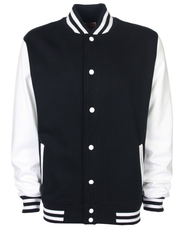 varsity jacket black/white