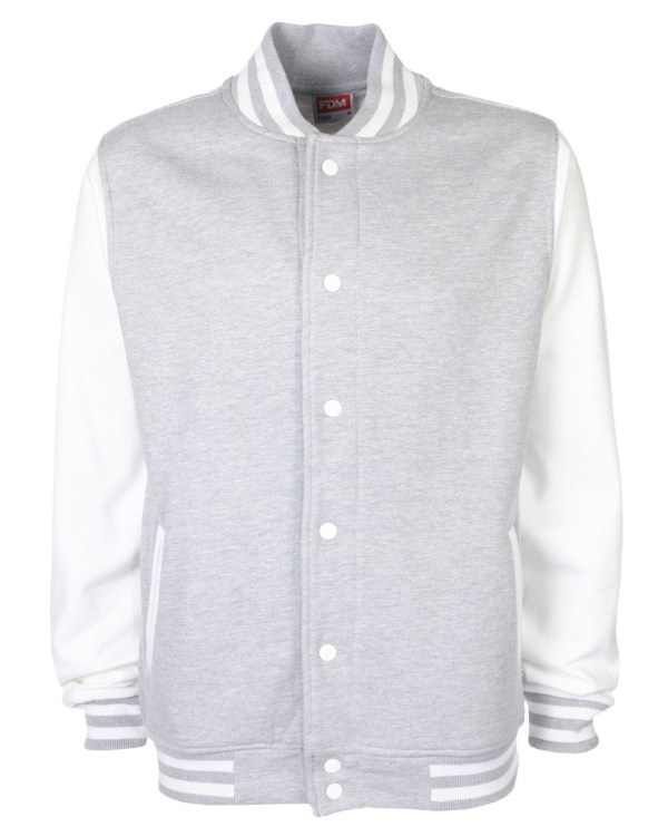 varsity jacket grey/white