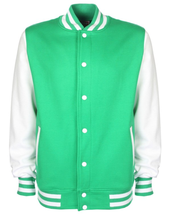 varsity jacket green/white