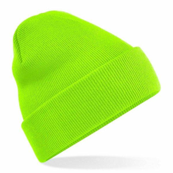 Beanie Hat Fluorescent green