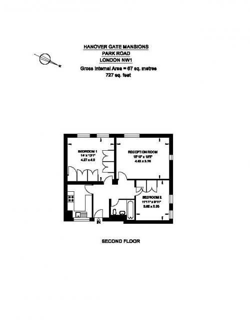 For Sale, Two Bedroom Flat, Hanover Gate Mansions, London